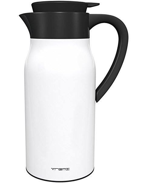 Vremi Coffee Carafe Thermos - 50 oz Stainless Steel Coffee Travel Thermos Vacuum Insulated Thermal Carafe Hot Drink Carrier Container with Lid 1.5 liter Wine Carafe 12 Hour Heat Cold Retention - Blue   https://www.amazon.com/s/ref=nb_sb_noss_2?url=search-alias&field-keywords=coffee+