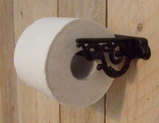 Speurders.nl: Toiletrolhouder ~ muur gietijzer ~ zwart wc rolhouder