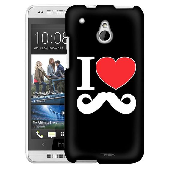 HTC One Mini I Love Mustache on Black Slim Case
