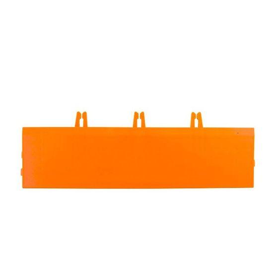 Armadillo Tile Fire Orange 3 in. x 12 in. Polypropylene Interlocking Bevels (4-Pack)