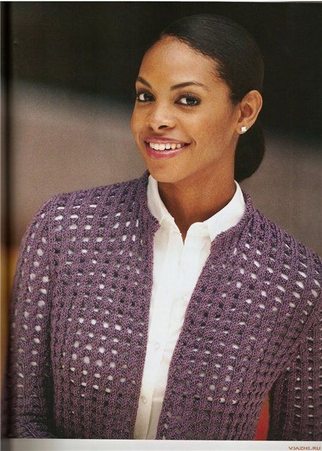 Mulberry Grid Cardigan free knitting graph pattern