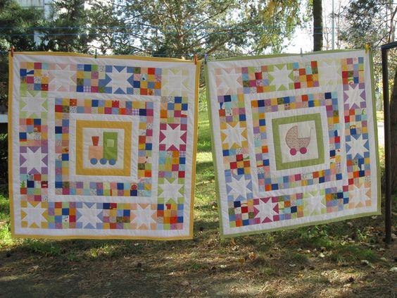 Hand Made by Vave: patchwork: Přehozy pro miminka