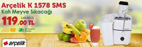 Bu Fırsat Kaçmaz; Arçelik K 1578 SMS Katı Meyve Sıkacağı 149.90 TL yerine sadece 119.00 TL! Sipariş vermek için >> http://goo.gl/AdHX5V