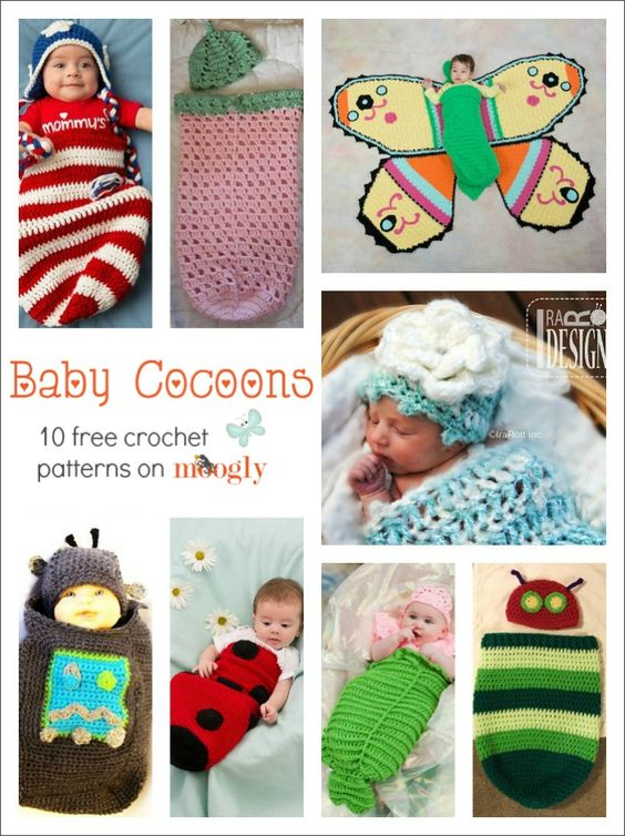 All Wrapped Up: 10 Free #Crochet Baby Cocoon Patterns for Halloween, Photo Shoots, and More!: