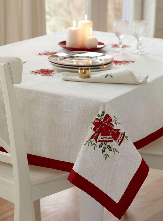 Manteles fiesta and productos on pinterest - Pintura en tela motivos navidenos ...
