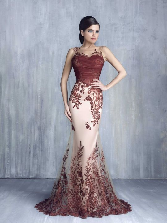 Tony Chaaya Evening Dresses 2016 Collection Red Wedding Dresses Formal Evening Dresses Occasion Dresses