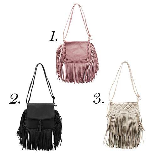 WOW!!! Diese trendy Taschen sind gerade erst bei uns in den Shops angekommen und wir wissen schon, mindestens eine brauchen wir!  Nur welche? 1,2 oder 3??? ( Tasche mit Fransen 12,99€ ) #itbag #musthave