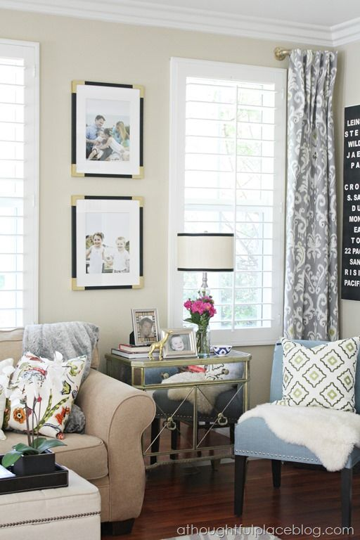 Living Room Update Semi Custom Drapes A Thoughtful Place Living Rooms Pinterest Curtain