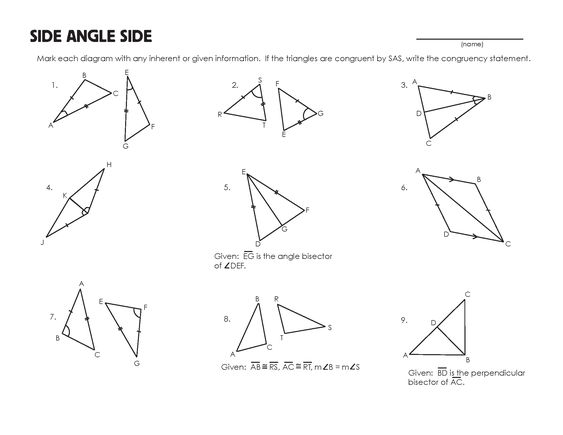 Printables Congruent Angles Worksheet congruent triangles worksheet and worksheets mrmillermath