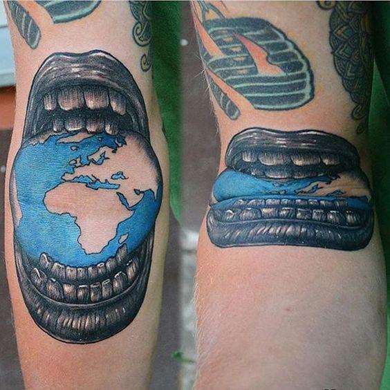 A creative tattoo by @niko_nerdo  www.UpFade.com by streetartglobe