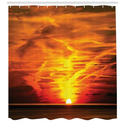 Sunset Shower Curtain East Urban Home Size 220cm H X 175cm W East Urban Home Sunset Shower Curtain