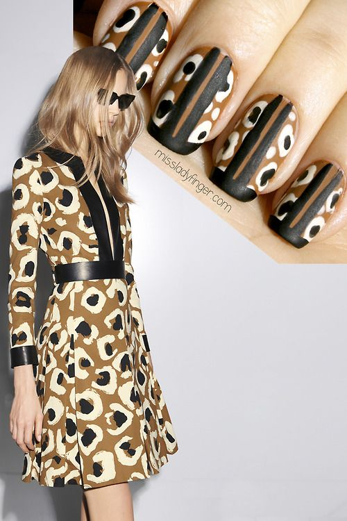 MANICURE MUSE: Gucci Pre-Fall '14 3 important fashion lessons learned from Gucci Pre-Fall '14… Plus the Ladyfinger to match. #fashion Pin by Ellesilk.com