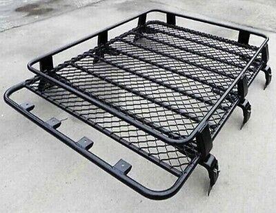 Transit Van Steel Roof Rack Tray Top Black 4x4 Cargo Luggage Basket Carrier For Sale Ebay Roof Rack Truck Roof Rack Cargo Roof Rack