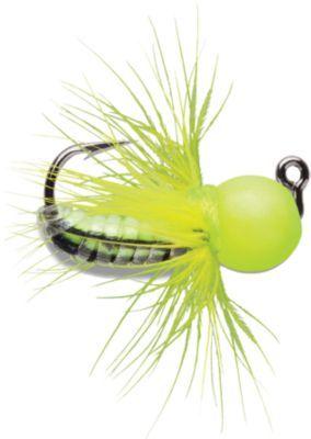 2  Dozen Pan Fish BH Orange Wet Fly Crappie Trout Rubber Wax Worm Fly
