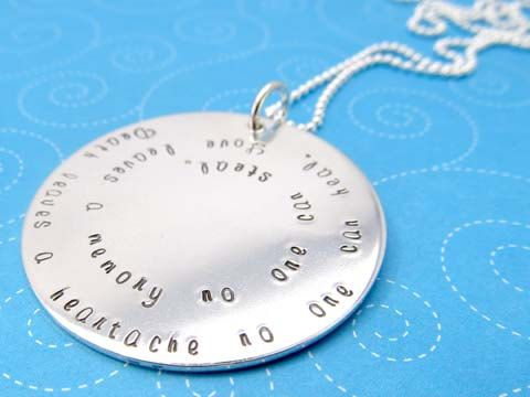 Personalized Memorial Necklace Forever in My by hopeofmyheart, $110.00