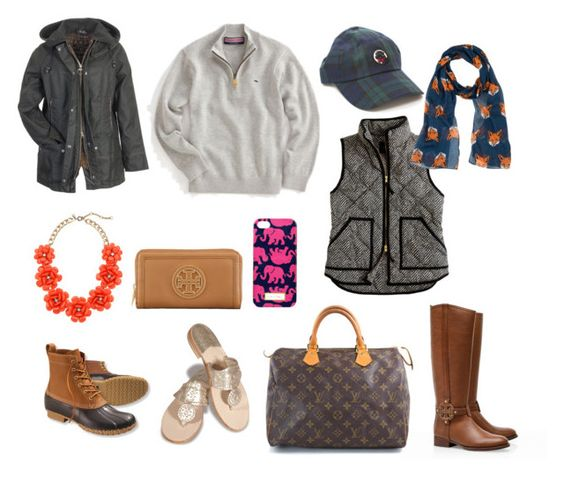 """Fall Wish List!"" by southern-and-preppy ❤ liked on Polyvore featuring Vineyard Vines, J.Crew, Barbour, L.L.Bean, Jack Rogers, Tory Burch, Lilly Pulitzer and Louis Vuitton"