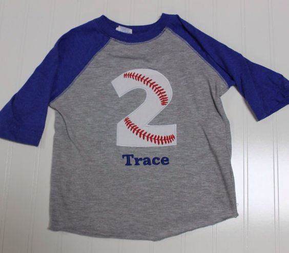 Baseball 2nd Birthday Shirt Boys By BabyEmbellishments