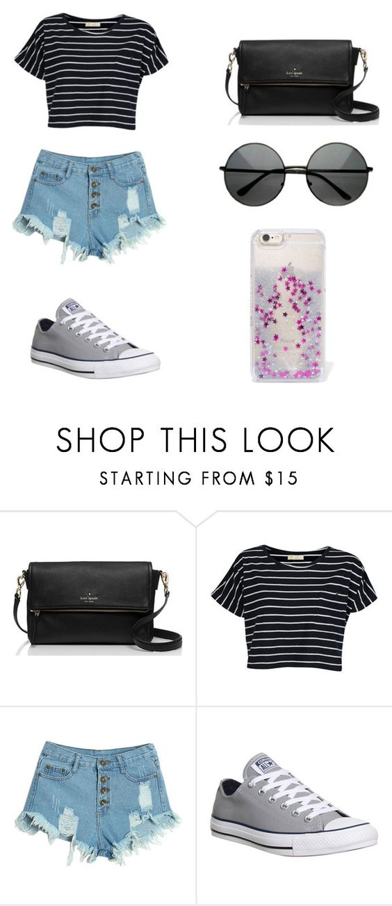 """Untitled #83"" by karenrodriguez-iv on Polyvore featuring Kate Spade, Brave Soul, WithChic, Converse, Skinnydip, women's clothing, women, female, woman and misses"