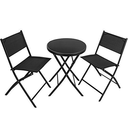TecTake 402936 Salon de Jardin 2 Chaises et 1 Table ...