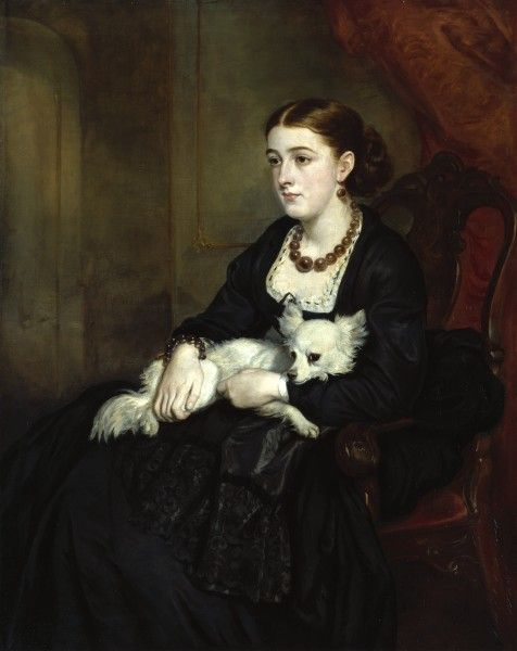 Portrait of Miss Grant, the artist's daughter, by Sir Francis Grant, c 1850. Royal Academy of Art.