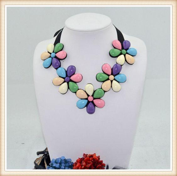 2014 collar de la moda collar con cuentas de forma de la flor para la decoración de prendas de vestir-Collares-Identificación del producto:1914093221-spanish.alibaba.com