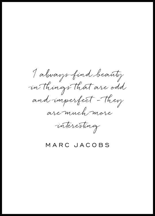 Marc Jacobs Plakat Plakater Citat Plakater Citater