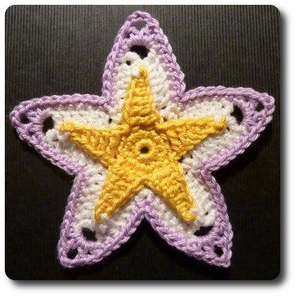 Free Crochet Pattern Granny Star : Granny Star crochet pattern Granny Star Crochet patterns ...