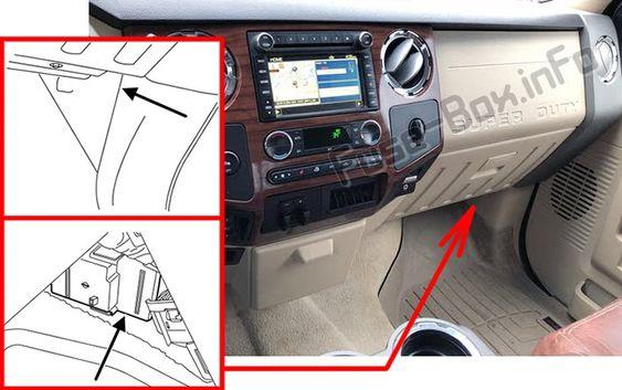 Fuse Box Diagram Ford F 250 F 350 F 450 F 550 2013 2015