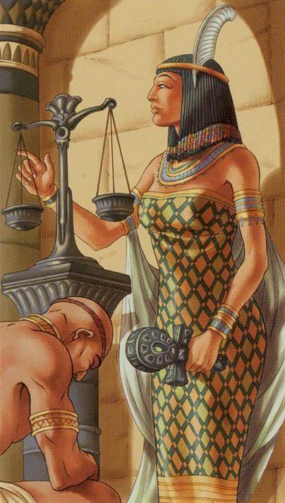 VIII. Justice - Universal Goddess Tarot by Maria Caratti  and Antonella Platano