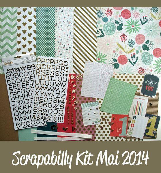 Scrapabilly Kit Mai 2014, www.scrapabilly.de
