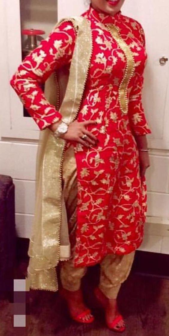 Punjabi Patiala Suit Patiala Suit Image Patiala Suits Neck