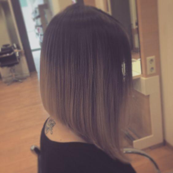 Hair Longbob ombre Frisur    Friseur hairstyle