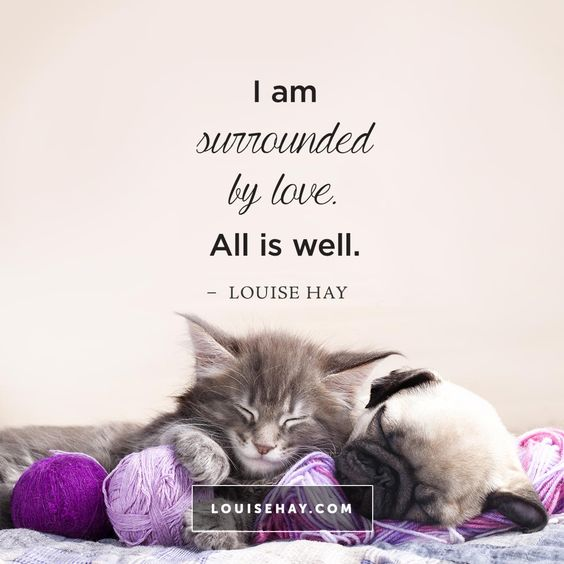 // I am surrounded by love. All is well. - Louise Hay Affirmations: