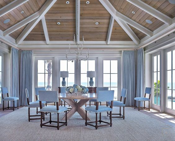 coastal dining room | Collins Interiors:
