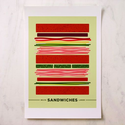 graphic food-themed posters from Bklyn Larder