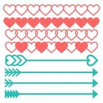 Heart Arrows Borders Svg Cuttable Designs