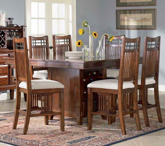 Vantana Square/Rectangular Counter Height Pedestal Table by Broyhill - Home Gallery Stores