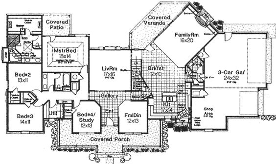 classic farmhouse with angled spaces 48063fm 1st floor master suite bonus room