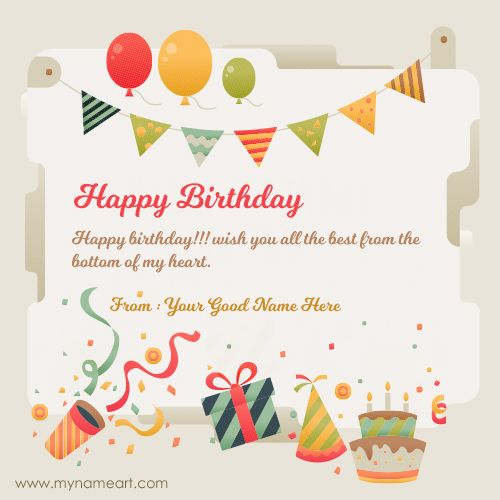 New Birthday Wishes With Name Editor Online Birthday Wishes With Name Birthday Card With Name Birthday Card Online