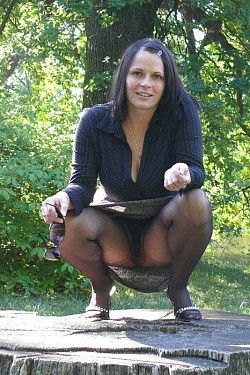 Nice Black Pantyhose And Full 85