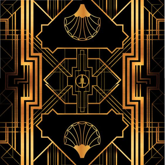 great gatsby art deco backdrop for photos wall decor party decoration 1920 39 s 20 39 s style. Black Bedroom Furniture Sets. Home Design Ideas