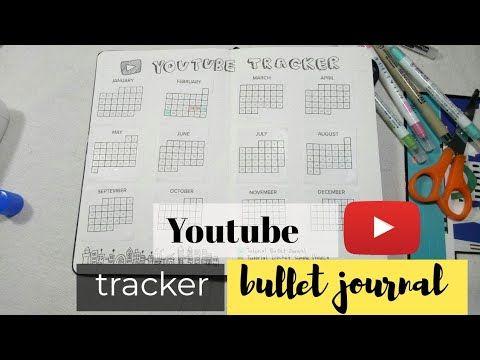 Easy Bullet Journal Tracker Youtube Bullet Jurnal Simple Eng Sub Youtube In 2020 Bullet Journal Tracker Journal Bullet Journal
