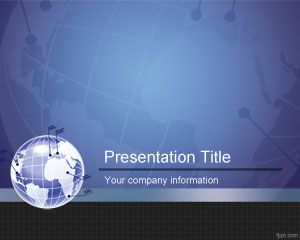 free global partner powerpoint template is a blue business, Modern powerpoint