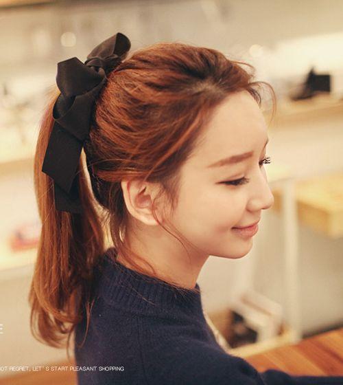 tóc đuôi gà duy băng buộc tóc
