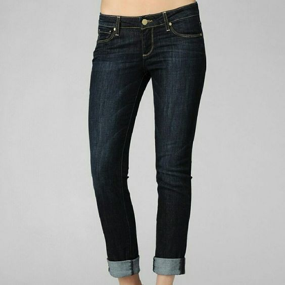 "PAIGE JIMMY JIMMY SKINNY - REBEL WITHOUT A CAUSE The Jimmy Jimmy Skinny is a boyfriend jean, that is slim through the waist and hip, skinny yet slouchy through the thigh and leg. SPECIFICATIONS  Front Rise: 8 3/8"" Inseam: 31"" Leg Opening: 13"" 9.5 oz Fabric 92% Cotton, 7% Elasterell, 1% Spandex Paige Jeans Jeans Boyfriend"
