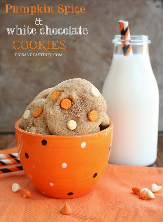 White chocolate cookies, Pumpkin spice and White chocolate on ...
