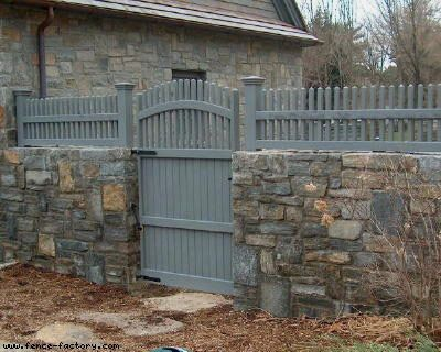 I like the idea of a stone foundation base with a wood structure above castle re do - Stone fences garden designs ...