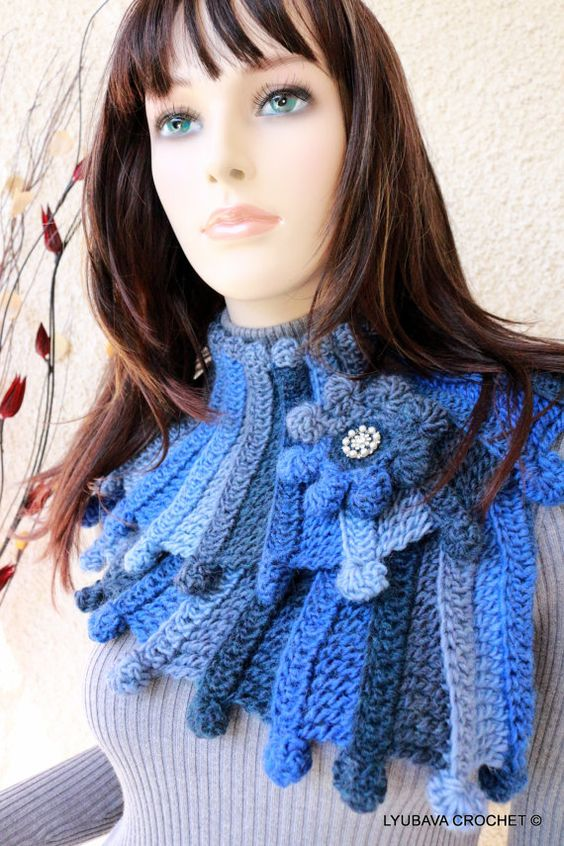 crochet scarf pattern multicolor scarf chunky