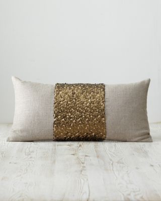 Eileen Fisher Sequined Linen Pillow Cover