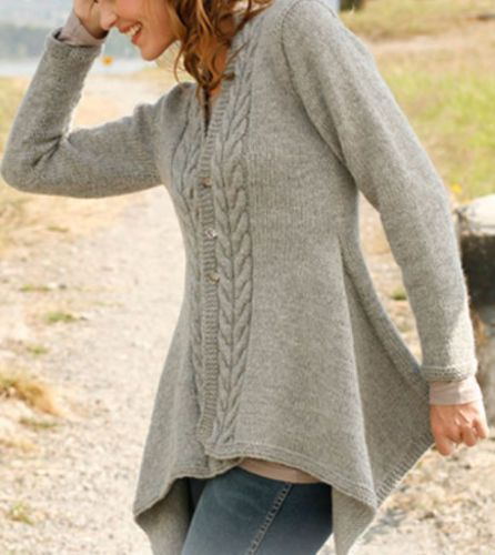 Knitting Pattern Swing Jacket : Lady, Knitting patterns and Swings on Pinterest